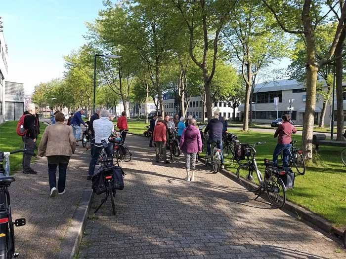 Bezoekers aan de TRAP-route gemeente Houten